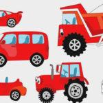Синий трактор — Цветные Машинки