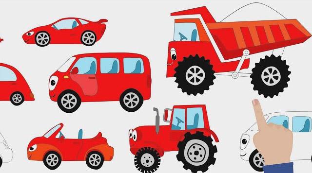 Синий трактор - Цветные Машинки